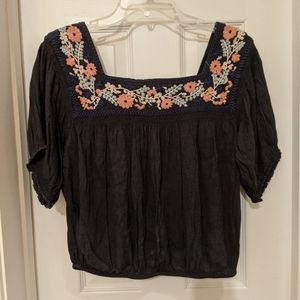 American Eagle Outfitters Navy Boho top Medium